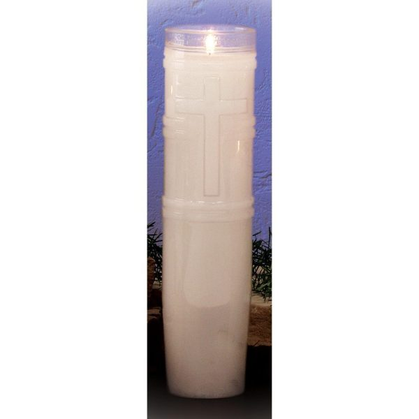 14-Day Open-Top Plastic Sanctuary Candles (9 Candles)-0