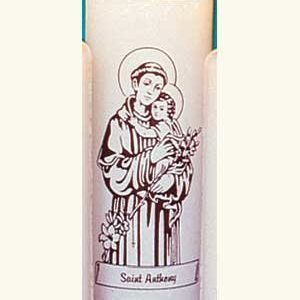 Saint Anthony 6 Day Patron Saint Candles - 12/box-0
