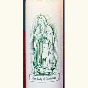 Our Lady of Guadalupe 6 Day Patron Saint Candles - 12/box-0
