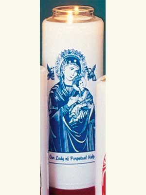 """Our Lady of Perpetual Help"" Patron Saint Candles (12 Candles)-0"