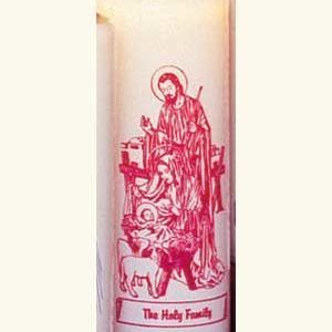 Holy Family 6 Day Patron Saint Candles - 12/box-0
