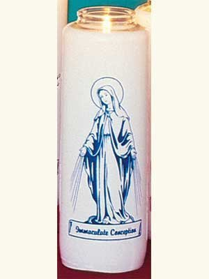 """Immaculate Conception"" Patron Saint Candles (12 Candles)-0"