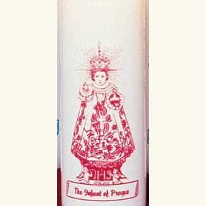 Infant Jesus of Prague 6 Day Patron Saint Candles - 12/box-0
