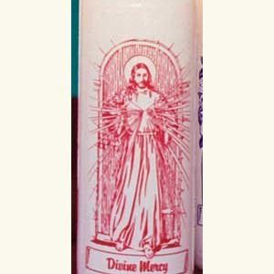 Divine Mercy 6 Day Patron Saint Candles - 12/box-0