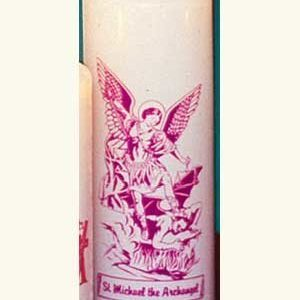 Saint Michael 6 Day Patron Saint Candles - 12/box-0