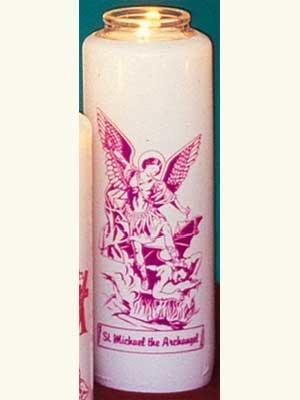 Saint Michael 6 Day Patron Saint Candles - 12/box-0