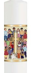Children of the World Pillar Candle-0