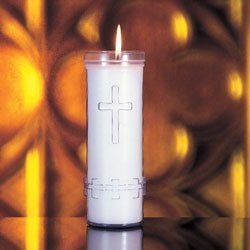 7-Day Outdoor Plastic Cemetery Candle-0