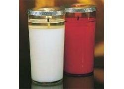 3-Day 51% Beeswax RED Glass Votives - 12/box-0
