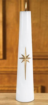 """Bright Morning Star"" Conical Christ Candle-0"