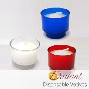 4-Hour Disposable Plastic Votive Candles - 288/box-0