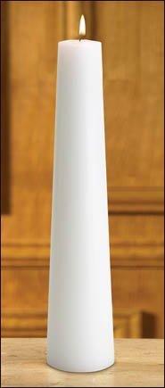 Plain Conical Christ Candle-0