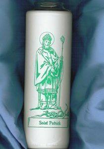 """""""Saint Patrick"""" Patron Saint Candles (12 Candles)-0"""
