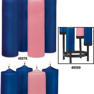 Advent Pillars- Set of 4 Candles- Large Diameter-0