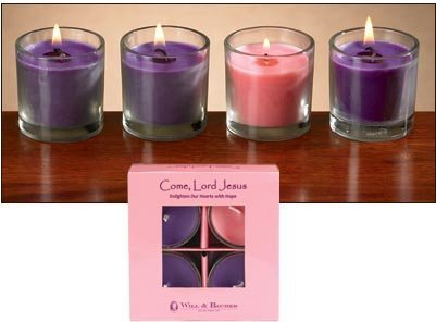 Advent Votives in Glass - 6 sets/case-0