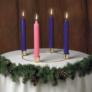 "14"" Advent Wreath and Candle Set-0"