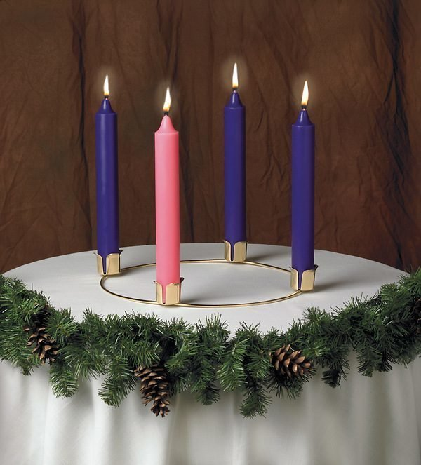 """14"""" Advent Wreath and Candle Set-0"""