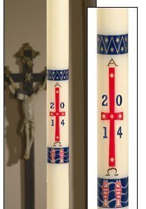 """Benedictine"" Paschal Candle-0"