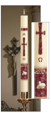 """Behold the Lamb"" Paschal Candle-0"