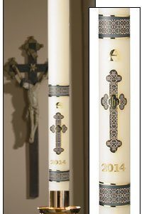"""Budded Cross"" Paschal Candle-0"