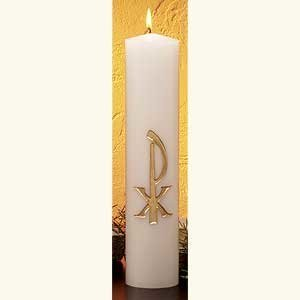 Gold Embossed Christ Candle-0