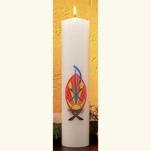 Flat Design Christ Candle-0