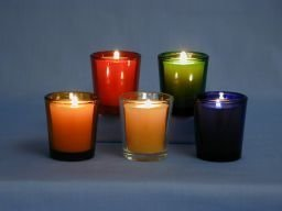 Glass Tapered Votive Holders (15-Hour)-0
