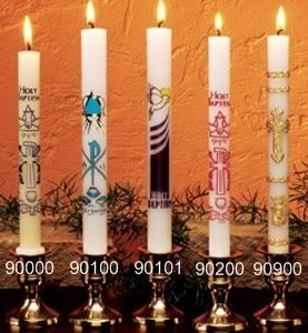 Dadant Baptismal Candles - Sold Individually-0