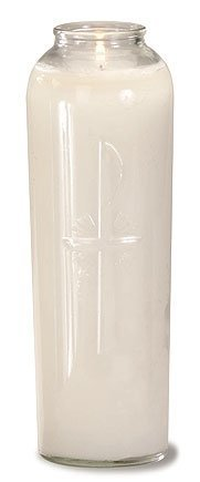 7-Day Outdoor Glass Cemetery Candle-0