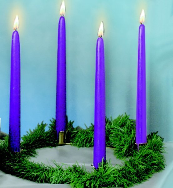 Gold-Finish Advent Wreath & Candle Set (3 Color Options)-0