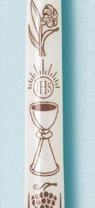 """Gold Chalice"" First Communion Candles (24 Candles)-0"