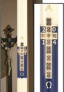 """Holy Cross"" Paschal Candle-0"
