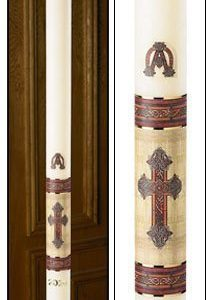 """Kells Cross"" Paschal Candle-0"