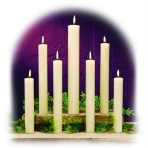 "100% Beeswax Altar Candles (1-1/4"" & Larger)-0"