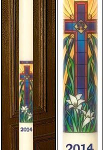 """Radiant Light Mosaic"" Paschal Candle-0"