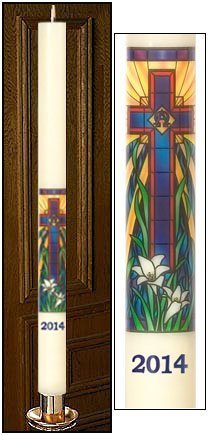 """""""Radiant Light Mosaic"""" Paschal Candle-0"""