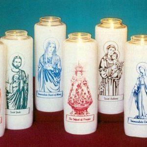 """""""Virgin de San Juan de Los Lagos"""" Patron Saint Candles (12 Candles)-0"""