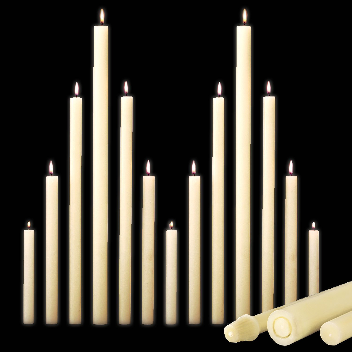 """51% Beeswax Altar Candles (1-1/4"""" & Smaller)-0"""
