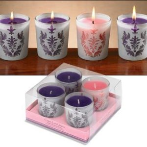 """Come, Lord Jesus"" Advent Votives in Damask Glass - 2 sets-0"