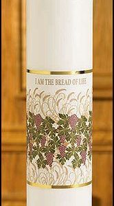 """I am the Bread of Life"" Christ Candle-0"