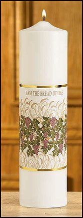 """""""I am the Bread of Life"""" Christ Candle-0"""