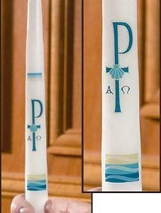 """Chi Rho"" Baptismal Candles-0"