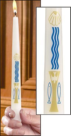 """Baptism by Water and the Holy Spirit"" Candles-0"