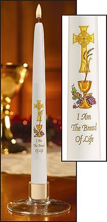 """Chalice and Grapes"" First Communion Candle (24 Candles)-0"