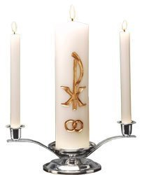 Elegant Gold Wedding Unity Candle Set-0