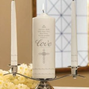 Faith, Hope and Love Unity Candle Set-0