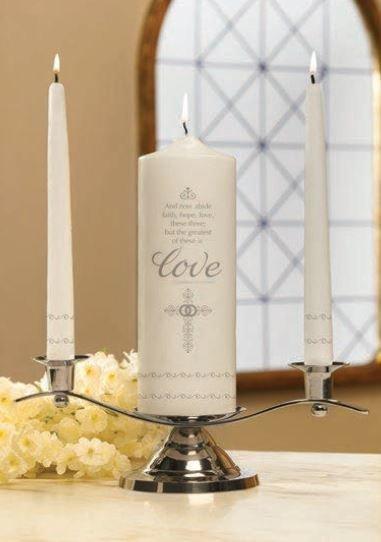 Faith, Hope and Love Unity Candle Set-0