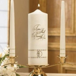 Two Shall Become One Unity Candle Set-0