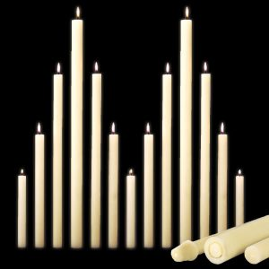 "51% Beeswax Altar Candles (1-1/4"" & Smaller)"